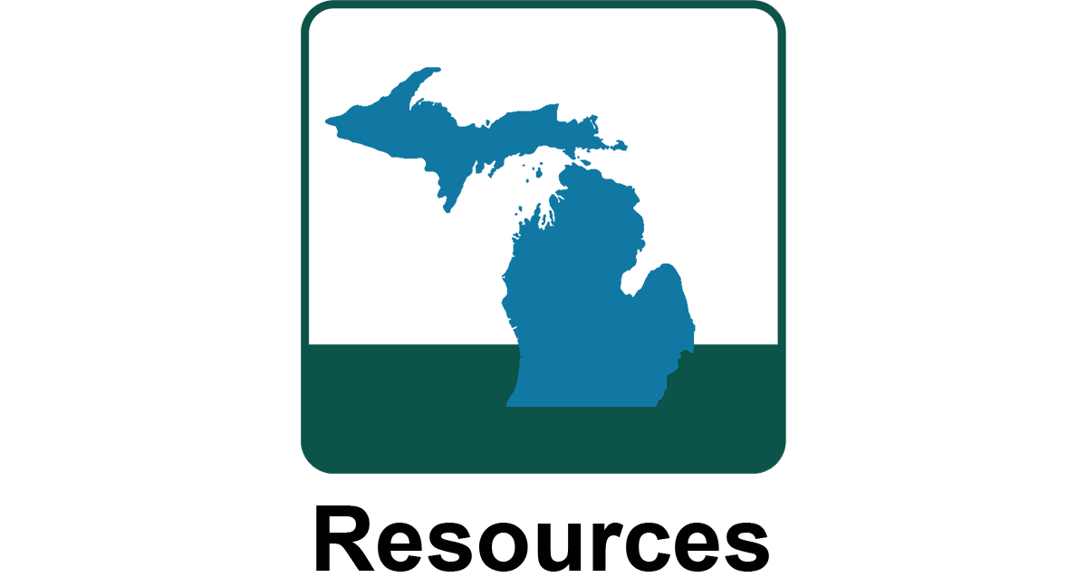 Icon for survey resources that has a state of Michigan map