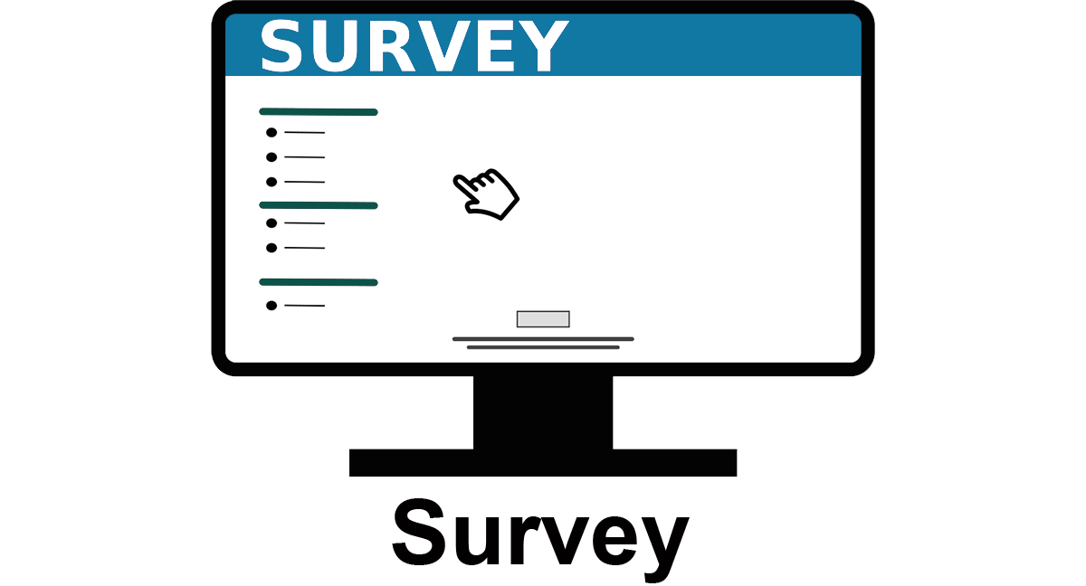 Computer screen icon that reads Survey at the top of the screen